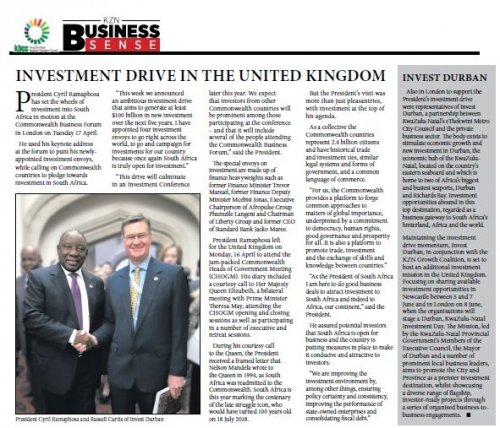 KwaZulu-Natal Top Business | Investment Drive In The United
