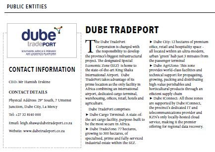 KwaZulu-Natal Top Business | Public Entities : Dube
