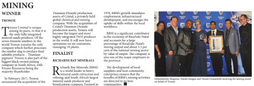 KwaZulu-Natal Top Business | Standard Bank - Mining : Winner