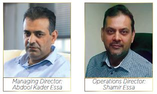 Frimax Foods : Managing Director Abdool Kader(Baboo)Essa and Operations Director Shamir Essa