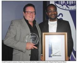 KZN Top Business Awards:Arnold Vermaak (Constantia Afripack Chairman) and Herbert Pasipamire (Constantia Afripack Chief Financial Officer)