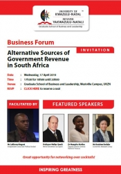 Graduate School of Business and Leadership - Alternative Sources of Government Revenue in South Africa