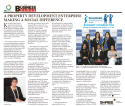Annisha Shree - A Property Development Enterprise Making A Social Difference