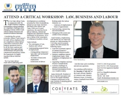 Attend a Critical Workshop : Law, Business And Labour - Cox Yeats