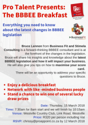 BusinessFIT and Pro Talent Present The BBBEE Breakfast
