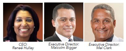Black Balance CEO: Reneé Hulley, Executive Director: Malcolm Biggar, Executive Director: Mel Clark