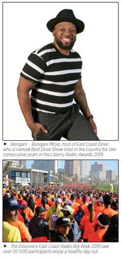 Bongani Mtolo, host of East Coast Drive