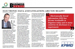Brett Franklin:KPMG - Electronic Data And Litigation : Are You Ready?