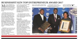 Calvin and Family - BusinessFIT KZN Top Entrepreneur Award 2017