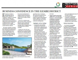 iLembe District Municipality - Business Confidence in the iLembe district