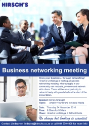 Hirschs Umhlanga - Business Networking Meeting