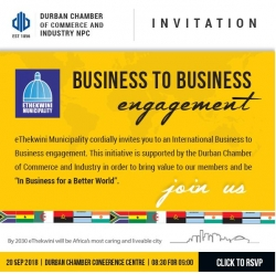 Durban Chamber - Invite for Business to Business Engagement - 20 September 2018