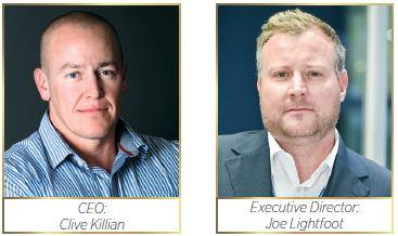 1st Call Group CEO: Clive Killian and Executive Director: Joe Lightfoot