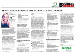 Chantal Gray - Managing Director : How Driver Fatigue Threatens All Road Users