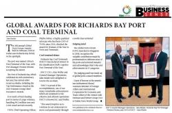 Dave Savides - Global Awards For Richards Bay Port And Coal Terminal