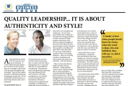 David White and Akhona Mahlati : BusinessFIT - Quality Leadership...It Is About Authenticity And Style!