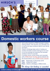 Hirschs Umhlanga - Domestic Workers Course