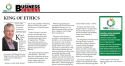 King of Ethics - Dominic Collett, the Chairman of the KwaZulu-Natal Business Chambers Council