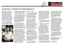 Dr Fareed Amod - Making A Positive Difference