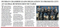 Durban Chamber Leads Delegation To Promote City At Global Business Round Table