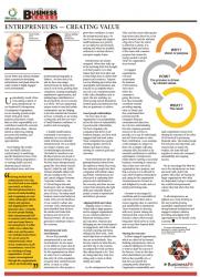 David White & Akhona Mahlati : Entrepreneurs - Creating Value