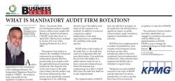 Farouk Ebrahim (CA) SA Managing Partner Regional Audit -KwaZulu-Natal : What Is Mandatory Audit Firm Rotation?