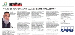 Farouk Ebrahim (CA) SA Managing Partner Regional Audit -KwaZulu-Natal : What Is Mandatory Audit Firm Rotation?