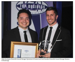 KZN Top Business Awards:Mike Dos Santos (Futurelife General Manager Operations & Finance) and David Sweidan (Futurelife General Manager Business & Marketing)