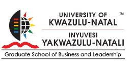 UKZN Graduate School of Business & Leadership logo