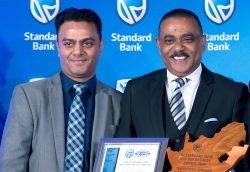 Hameed Noormahomed, Standard Bank Retail and Business Banking: Central Region Head KZN and Colin Naidoo, Senior Manager Corporate Affairs, KSIA