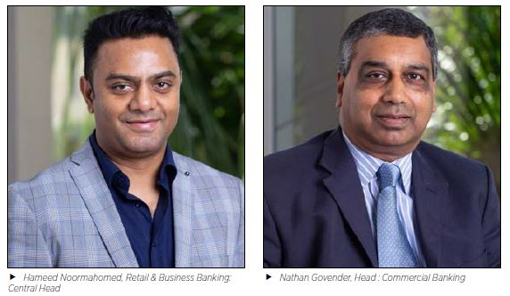 Hameed Noormahomed, Retail & Business Banking: Central Head and Nathan Govender, Head : Commercial Banking