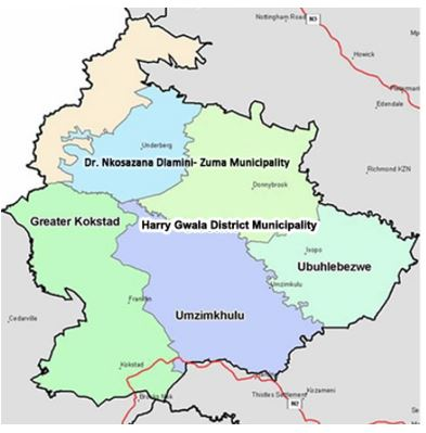 Harry Gwala District Municipality Map