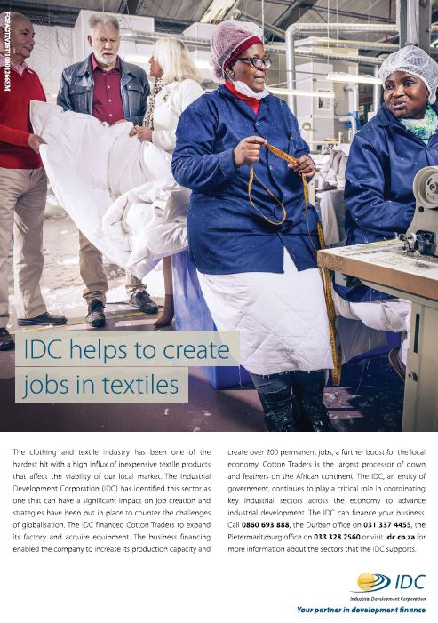 IDC helps to create jobs in textiles
