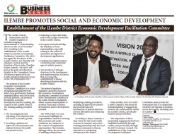 Ilembe Promotes Social And Economic Development