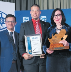 Imraan Noorbhai, Standard Bank KZN Provincial Head; Neville Matjie, CEO TIKZN and Ina Cronje, Chairperson TIKZN