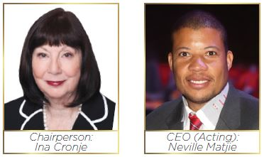 Chairperson of TIKZN Board: Ina Cronje and Chief Executive Officer (Acting): Mr Neville Matjie