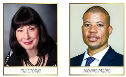 Chairperson of TIKZN Board: Ina Cronje and Chief Executive Officer : Mr Neville Matjie
