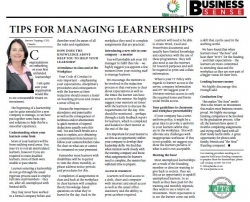 Jeanine Topping - Tips For Managing Learnerships