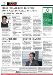 Judith Nzimande - First female boss elected for KwaZulu-Natal Business Chambers Council