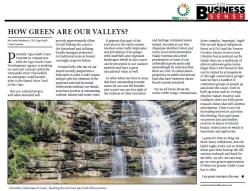 Justin Mackrory CEO Ugu South Coast Tourism - How Green Are Our Valleys?