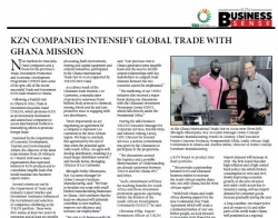 KZN Companies Intensify Global Trade With Ghana Mission