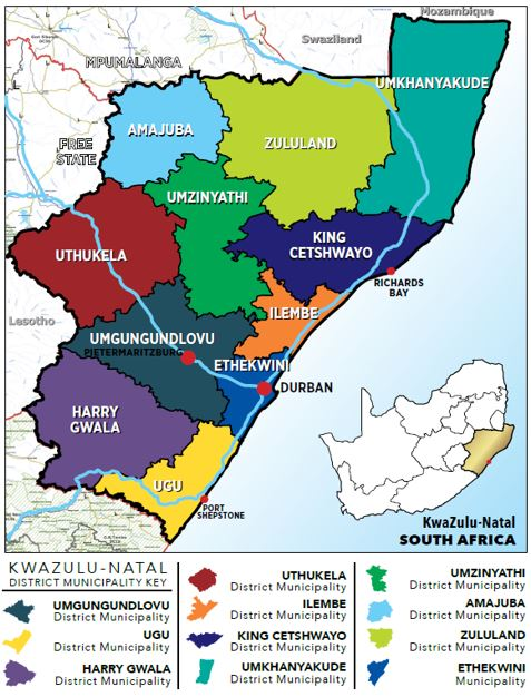 KZN District Municipalities Map
