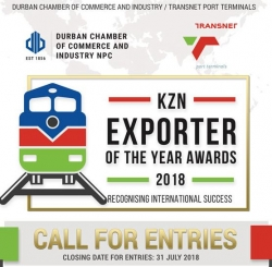 Durban Chamber - Call for Entries: KZN Exporter of the Year 2018