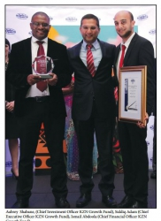 KZN Top Business Awards - KZN Growth Fund:Winner:Government Sector:Aubrey Shabane, (Chief Investment Officer KZN Growth Fund), Siddiq Adam (Chief Executive Officer KZN Growth Fund), Ismail Abdoola (Chief Financial Officer KZN Growth Fund
