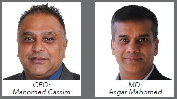 Esquire Technologies:CEO Mahomed Cassim and Managing Director Asgar Mahomed