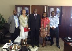 Left to Right : Mr. Irvin Mogale, Ms. Deborah Ewing,Mr. Mike Mabuyakhulu, Ms. Fikile Mngomezulu, Mr. Skhumbuzo Mpanza