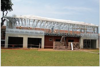 Safal Steel:Material donated for light weight steel structure at Penzance Primary School in Glenwood