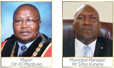 uThukela District Municipality Mayor:Cllr AS Mazibuko and Municipal Manager:Mr Sifiso Kunene