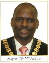 Harry Gwala District Municipality:Mayor: Cllr ME Ndobe