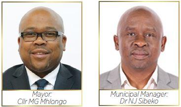 The City of uMhlathuze Mayor:Cllr MG Mhlongo and Municipal Manager:Dr NJ Sibeko